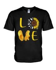 Sunflower Crocs Love Shirt V-Neck T-Shirt thumbnail