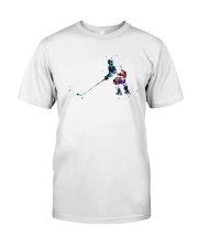 Watercolor Hockey Player Shirt Classic T-Shirt front
