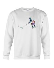Watercolor Hockey Player Shirt Crewneck Sweatshirt thumbnail