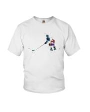 Watercolor Hockey Player Shirt Youth T-Shirt thumbnail