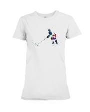 Watercolor Hockey Player Shirt Premium Fit Ladies Tee thumbnail