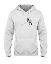 Watercolor Hockey Player Shirt Hooded Sweatshirt thumbnail