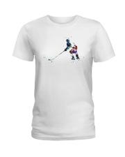 Watercolor Hockey Player Shirt Ladies T-Shirt thumbnail