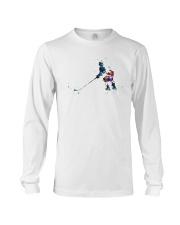 Watercolor Hockey Player Shirt Long Sleeve Tee thumbnail