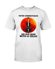 Never Underestimate An Old Man With A Cello Shirt Premium Fit Mens Tee thumbnail