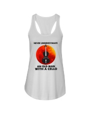 Never Underestimate An Old Man With A Cello Shirt Ladies Flowy Tank thumbnail