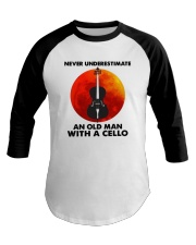 Never Underestimate An Old Man With A Cello Shirt Baseball Tee thumbnail