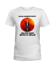 Never Underestimate An Old Man With A Cello Shirt Ladies T-Shirt thumbnail
