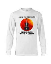 Never Underestimate An Old Man With A Cello Shirt Long Sleeve Tee thumbnail