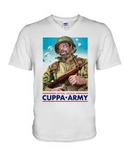 Official Soldier Cuppa Army Shirt V-Neck T-Shirt thumbnail