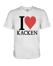 I Love Kacken Shirt V-Neck T-Shirt thumbnail