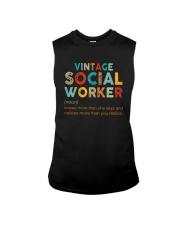 Vintage Social Worker Knows More She Says Shirt Sleeveless Tee thumbnail