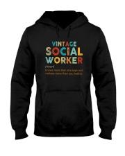 Vintage Social Worker Knows More She Says Shirt Hooded Sweatshirt thumbnail