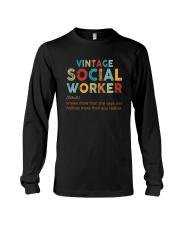 Vintage Social Worker Knows More She Says Shirt Long Sleeve Tee thumbnail