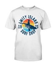 Vintage Amity Island Surf Shop 1975 Shirt Classic T-Shirt front
