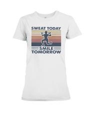 Vintage Sweat Today Smile Tomorrow Shirt Premium Fit Ladies Tee thumbnail