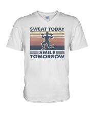 Vintage Sweat Today Smile Tomorrow Shirt V-Neck T-Shirt thumbnail