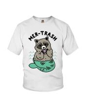 Mermaid Raccoon Mer Trash Shirt Youth T-Shirt thumbnail