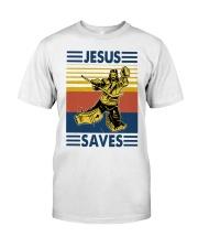 Vintage Hockey Jesus Save Shirt Classic T-Shirt front