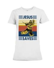 Vintage Hockey Jesus Save Shirt Premium Fit Ladies Tee thumbnail