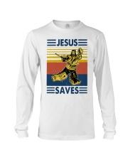 Vintage Hockey Jesus Save Shirt Long Sleeve Tee thumbnail