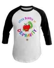 Little Bundle Of Depravity Shirt Baseball Tee thumbnail