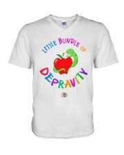 Little Bundle Of Depravity Shirt V-Neck T-Shirt thumbnail