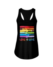 Color Handshake Love Is Love Shirt Ladies Flowy Tank thumbnail
