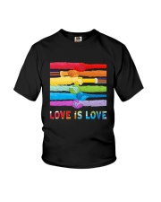Color Handshake Love Is Love Shirt Youth T-Shirt thumbnail