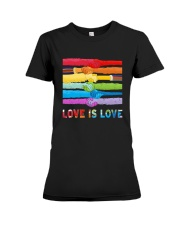 Color Handshake Love Is Love Shirt Premium Fit Ladies Tee thumbnail