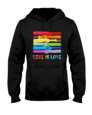 Color Handshake Love Is Love Shirt Hooded Sweatshirt thumbnail