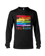 Color Handshake Love Is Love Shirt Long Sleeve Tee thumbnail