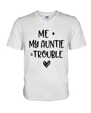 Me My Auntie Trouble Shirt V-Neck T-Shirt thumbnail