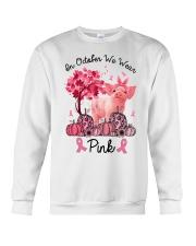 Pig In October We Wear Pink Shirt Crewneck Sweatshirt thumbnail