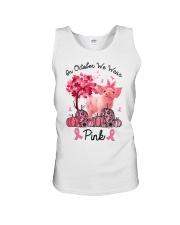 Pig In October We Wear Pink Shirt Unisex Tank thumbnail