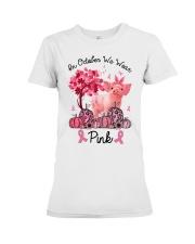 Pig In October We Wear Pink Shirt Premium Fit Ladies Tee thumbnail
