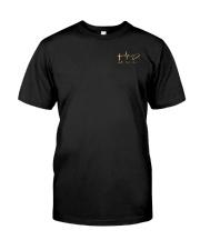 American Flag Sunflower Faith Shirt Classic T-Shirt front