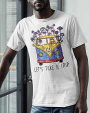Hippie Girl Lets Take A Trip Shirt Classic T-Shirt apparel-classic-tshirt-lifestyle-front-39