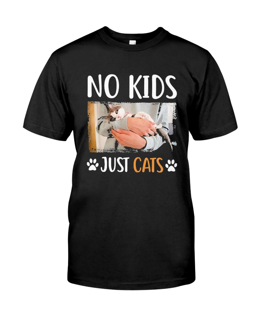 No Kids Just Cats Shirt Premium Fit Mens Tee