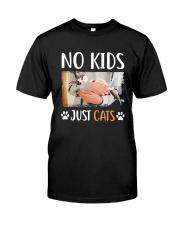 No Kids Just Cats Shirt Premium Fit Mens Tee front