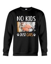 No Kids Just Cats Shirt Crewneck Sweatshirt thumbnail