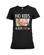 No Kids Just Cats Shirt Premium Fit Ladies Tee thumbnail