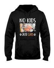 No Kids Just Cats Shirt Hooded Sweatshirt thumbnail