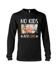 No Kids Just Cats Shirt Long Sleeve Tee thumbnail