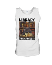 Library Black Cat Because Not Everything On Shirt Unisex Tank thumbnail