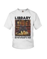 Library Black Cat Because Not Everything On Shirt Youth T-Shirt thumbnail