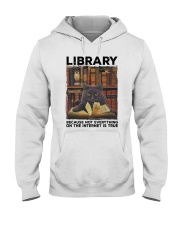Library Black Cat Because Not Everything On Shirt Hooded Sweatshirt thumbnail