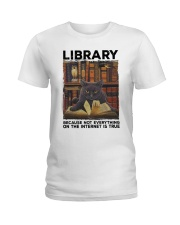 Library Black Cat Because Not Everything On Shirt Ladies T-Shirt thumbnail