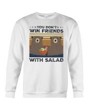 Vintage Bear You Dont Win Friends Salad Shirt Crewneck Sweatshirt thumbnail