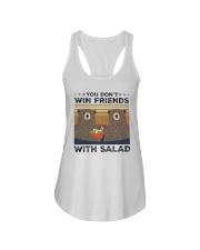 Vintage Bear You Dont Win Friends Salad Shirt Ladies Flowy Tank thumbnail